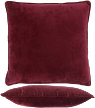 Kissen mit Füllung FREY 45x45cm tawny port rot