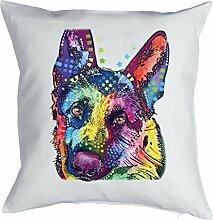 Kissen mit Füllung: Hund, German Shepherd,