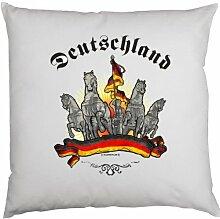 Kissen mit Innenkissen - Deutschland - mit 40 x 40 cm - in weiß : )