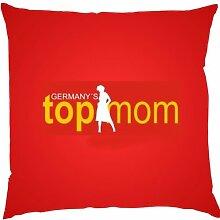 Kissen mit Innenkissen - Germany's Top Mom - zum Muttertag Geschenk - 40 x 40 cm - in ro
