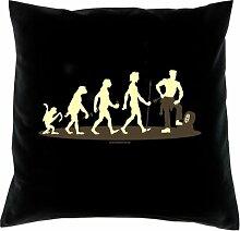 Kissen mit Innenkissen - Homo Stupidus: Autoschrauber - mit 40 x 40 cm - in schwarz : )
