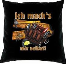 Kissen mit Innenkissen - Ich mach's mir selbst! - mit 40 x 40 cm - in schwarz : )