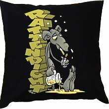 Kissen mit Innenkissen - Raucher - Rattendicht - mit 40 x 40 cm - in schwarz : )