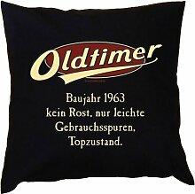 Kissen mit Innenkissen - zum Geburtstag - Oldtimer Baujahr 1963 - kein Rost, nur leichte Gebrauchsspuren, Topzustand. - mit 40 x 40 cm - in schwarz : )