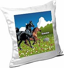 Kissen mit Namen Emma und schönem Pferde-Motiv
