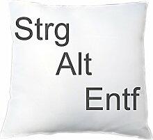 Kissen - Motiv Strg + Alt + Entf , Geschenkidee für Nerds / PC & Serien Fans , für ihn - Männer - Geburtstagsgeschenk - Weihnachtsgeschenk - Vatertag, Zierkissen, Dekokissen