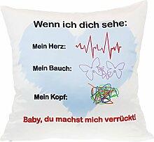 Kissen - Pulsschlag - romantisches Kuschelkissen -