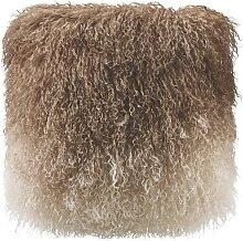 Kissen Shaggy ca.40x40cm in Braun