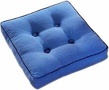 Kissen Sitzkissen Normallack Verdickung blau Stuhl Kissen Esszimmer Stuhl Kissen Quadrat Kissen Größe: 50 * 50cm