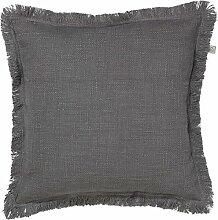 Kissen Sofia 45x45 cm dunkel grau - Dekokissen Zierkissen Heimtextilien Deko Kissen