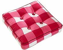 Kissen Stuhl Kissen Esszimmer Stuhl Kissen Kissen Rot Weiß Verdickung Gitter Quadrat Kissen Größe: 45 * 45cm