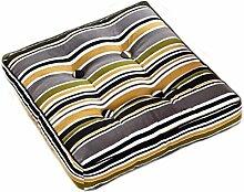Kissen Stuhl Kissen Esszimmer Stuhl Kissen Sitz Kissen Farbe mischen schwarze Streifen weiße Streifen Verdickung Streifen quadratischen Kissen Größe: 45 * 45cm