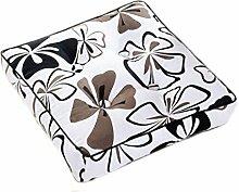 Kissen Stuhl Kissen Weiß Braun Blume Schwarz Esszimmer Stuhl Kissen Sitz Kissen Quadrat Kissen Größe: 40 * 40cm