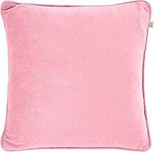 Kissen Velvet 45x45 cm rosa - Dekokissen Zierkissen Heimtextilien Deko Kissen