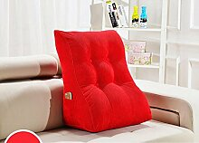 Kissen Waworts Big Rückenlehne Dreieck Sofa Kissen Bett weichen Büstenhalter Büro Lendenwirbelkissen kann abnehmbar sein ( Farbe : A4 , größe : 55*30*60cm )