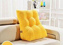 Kissen Waworts Big Rückenlehne Dreieck Sofa Kissen Bett weichen Büstenhalter Büro Lendenwirbelkissen kann abnehmbar sein ( Farbe : A6 , größe : 45*30*55cm )