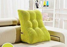 Kissen Waworts Big Rückenlehne Dreieck Sofa Kissen Bett weichen Büstenhalter Büro Lendenwirbelkissen kann abnehmbar sein ( Farbe : A1 , größe : 45*30*55cm )