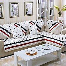 Kissen Winter Flanell Sofa/Einfache Jahreszeiten Slip Sofa moderne Handtuch-B 90x90cm(35x35inch)