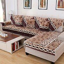Kissen Winter Flanell Sofa/Einfache Jahreszeiten Slip Sofa moderne Handtuch-A 90x90cm(35x35inch)