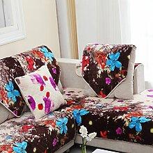 Kissen Winter Flanell Sofa/Einfache Jahreszeiten Slip Sofa moderne Handtuch-C 90x90cm(35x35inch)