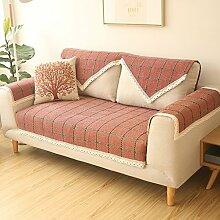 Kissen Wohnzimmer Stoff Sofa Kissen Baumwolle und Leinen Gitter Sofa Kissen ( farbe : B , größe : 90*240cm )