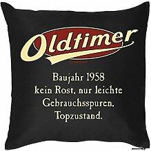 Kissen zum 60. Geburtstag 60 Jahre Geburtstagsgeschenk Geschenk zum Geburtstag Kopfkissen Polster Geschenkidee Jahrgang 1958