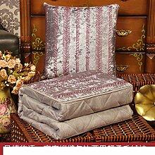 Kissenbezüge Dual-Use-Kissen/ Queen Größe Plüsch Klimaanlage war/ Office napping Decke/Auto Taille Kissen Sofa-H 45x45cm(18x18inch)