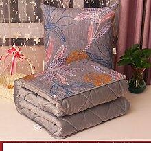 Kissenbezüge Dual-Use-Kissen/ Queen Größe Plüsch Klimaanlage war/ Office napping Decke/Auto Taille Kissen Sofa-J 45x45cm(18x18inch)