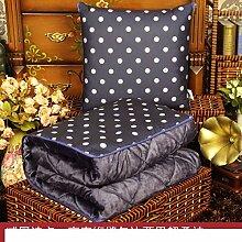 Kissenbezüge Dual-Use-Kissen/ Queen Größe Plüsch Klimaanlage war/ Office napping Decke/Auto Taille Kissen Sofa-M 45x45cm(18x18inch)