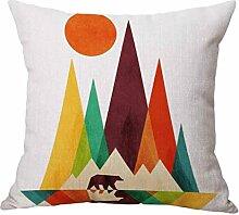 Kissenbezüge Longra Fashion Sofa Bett Home Dekoration Fall Kissen Kissenbezug Sofakissen Kissenhülle (45 cm * 45cm) (B)