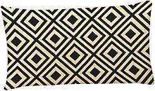 Kissenbezüge Longra Home Auto Bett Sofa dekorative Fall Kissen Geometrische Muster Kissenbezug Kissenhülle (30cm*50cm) (F)