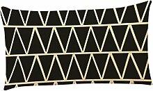 Kissenbezüge Longra Home Auto Bett Sofa dekorative Fall Kissen Geometrische Muster Kissenbezug Kissenhülle (30cm*50cm) (C)