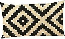 Kissenbezüge Longra Home Auto Bett Sofa dekorative Fall Kissen Geometrische Muster Kissenbezug Kissenhülle (30cm*50cm) (B)