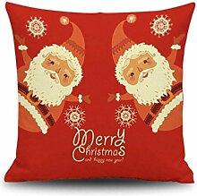 Kissenbezüge Longra Weihnachten Cartoon Sofa Bett Home Dekoration Festival Herbst Kissen Kissenbezug (C)