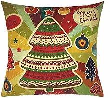 Kissenbezüge Longra Xmas Weihnachten Sofa Bett Home Dekoration Festival Fall Kissen Kissenbezug decken Kissenhülle (45cm*45cm) (B)