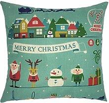 Kissenbezüge Longra Xmas Weihnachten Sofa Bett Home Dekoration Festival Fall Kissen Kissenbezug decken Kissenhülle (45cm*45cm) (D)