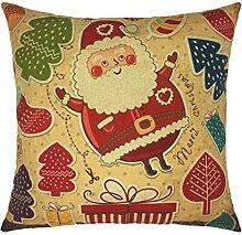 Kissenbezüge Longra Xmas Weihnachten Sofa Bett Home Dekoration Festival Fall Kissen Kissenbezug decken Kissenhülle (45cm*45cm) (A)