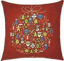 Kissenbezüge Longra Xmas Weihnachten Sofa Bett Home Dekoration Festival Fall Kissen Kissenbezug decken Kissenhülle (45cm*45cm) (F)