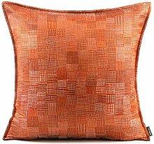 Kissenbezüge orange Dekokissen Hüllen mit