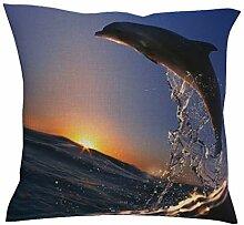 Kissenbezug 3D Delphin Tier Gedruckt Sofa Deko