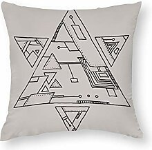 Kissenbezug aus Maccum Robotic Triangles