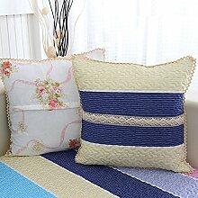 Kissenbezug/Bett Rückenpolster/Büro der Baumwolle Kissen/Lendenkissen-I 45x45cm(18x18inch)VersionB