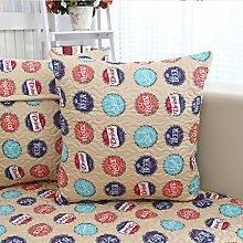 Kissenbezug/Bett Rückenpolster/Büro der Baumwolle Kissen/Lendenkissen-J 45x45cm(18x18inch)VersionB