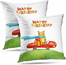 Kissenbezug Cars Watercolor Pillowcase