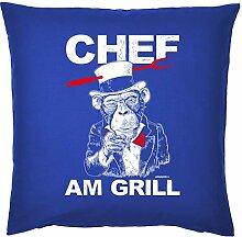 Kissenbezug Griller ohne Füllung: Chef am Grill