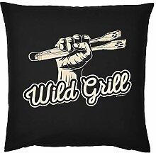 Kissenbezug Griller ohne Füllung: Wild Grill