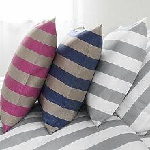 Kissenbezug: Hochwertige Halbleinen-Bettwäsche