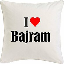 Kissenbezug I Love Bajram 40cmx40cm aus Mikrofaser
