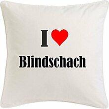 Kissenbezug I Love Blindschach 40cmx40cm aus