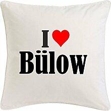 Kissenbezug I Love Bülow 40cmx40cm aus Mikrofaser